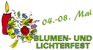 Ankündigung Blumen- und Lichterfest