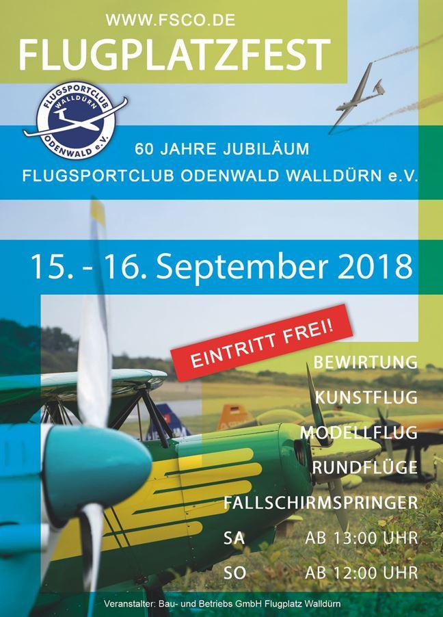 Plakat Flugplatzfest