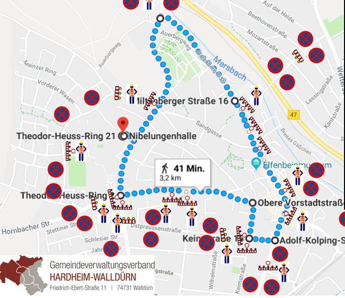 Zugplan Innenstadt Walldürn