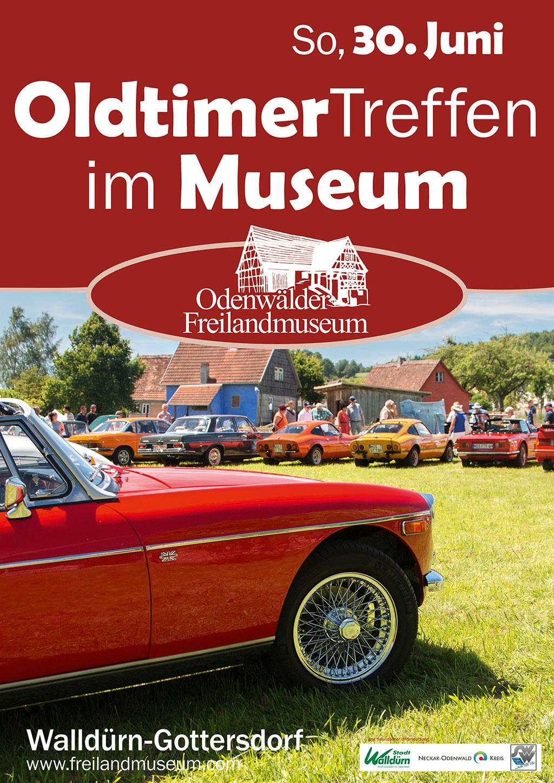Plakat Oldtimertreffen Freilandmuseum