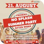 No Splash Summer Party Plakat