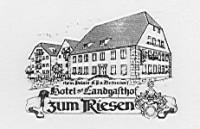 """Hotel/Restaurant """"Zum Riesen"""""""