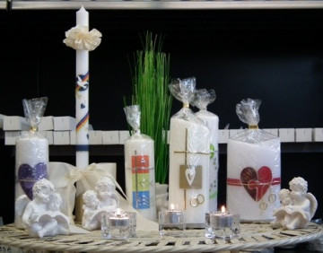handverzierte Kerzen