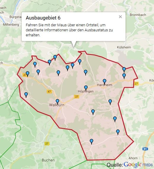 Breitbandausbaum im Neckar-Odenwald-Kreis