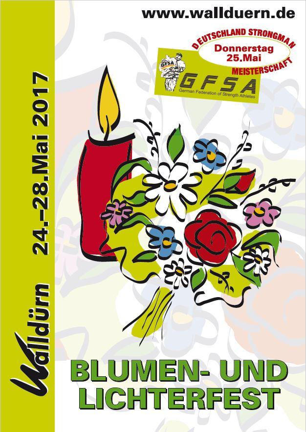 Blumen-und Lichterfest 2017 Plakat