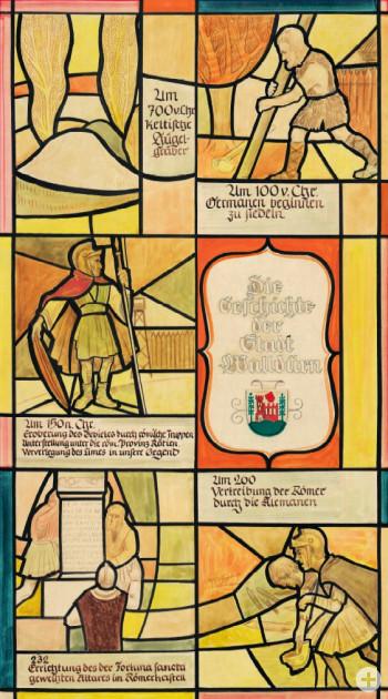 Eine Zeichnung über die Stadtgeschichte Walldürns - Teil 1