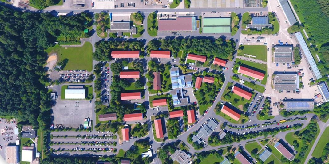 Luftaufnahme des Areals der Nibelungenkaserne Walldürn.