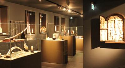Ein Blick in den Raum mit den Exponaten des Elfenbeinmuseums.