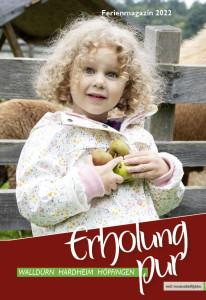 """Die Titelseite des Ferienmagazins """"Erholung pur"""" von Walldürn, Höpfingen und Hardheim."""