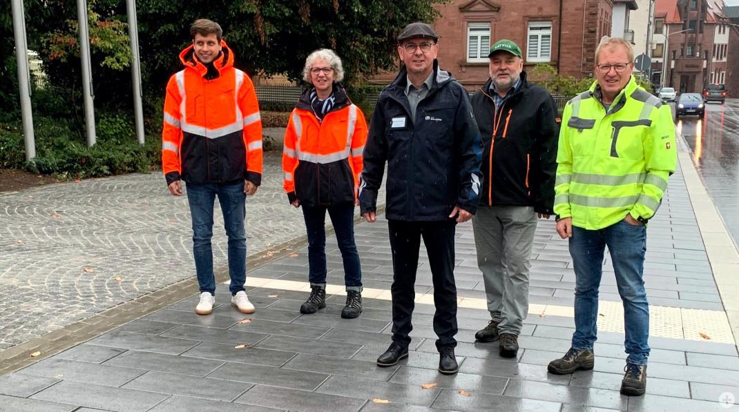 Baustellenabnahme mit Vertretern der Stadtverwaltung, der Baufirma und des beratenden Ingenieurbüros